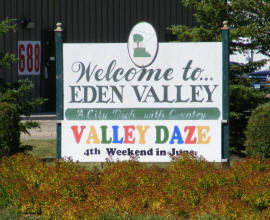 Welcome to Eden Valley Minnesota!