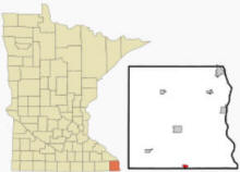 Location of Eitzen, Minnesota