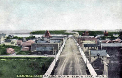 Main Street looking south, Elbow Lake Minnesota, 1910