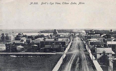 Birds eye view, Elbow Lake Minnesota, 1908