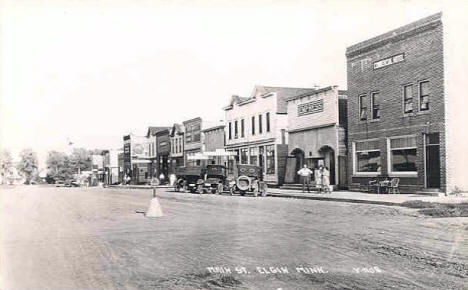 Main Street, Elgin Minnesota, 1920's