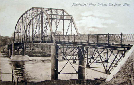 Mississippi River Bridge, Elk River Minnesota, 1909