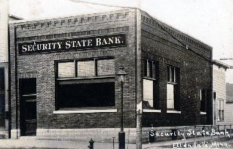 Security State Bank, Ellendale Minnesota, 1915