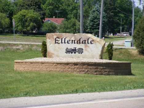 Welcome Sign, Ellendale Minnesota, 2010