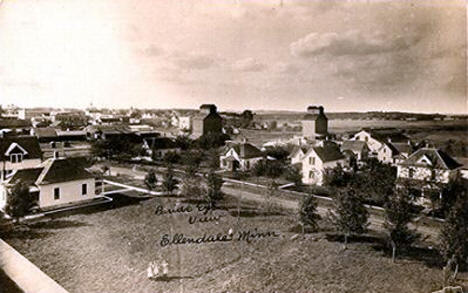 Birdseye View of Ellendale Minnesota, 1916