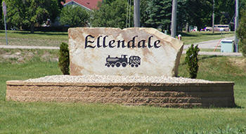 Ellendale Minnesota welcome sign