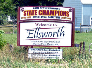 Ellsworth Minnesota welcome sign