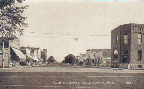 Main Street North, Ellsworth Minnesota, 1917