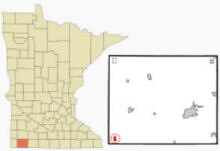 Location of Ellsworth, Minnesota