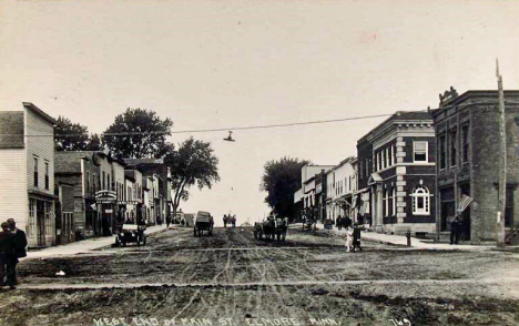West End of Main Street, Elmore Minnesota, 1920's?