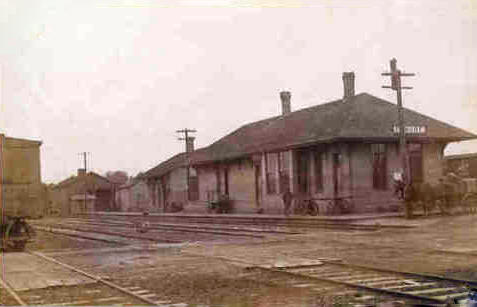 Chicago & St. Paul, Minneapolis & Omaha Railroad Depot, Elmore Minnesota, 1910's?