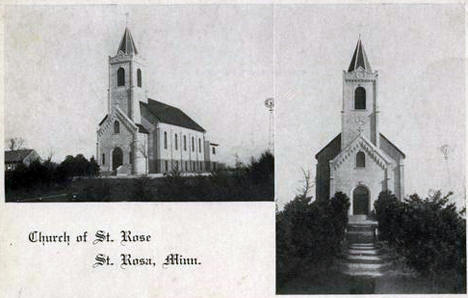 Church of St. Rose, Elrosa Minnesota, 1910's?