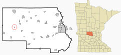 Location of Elrosa, Minnesota