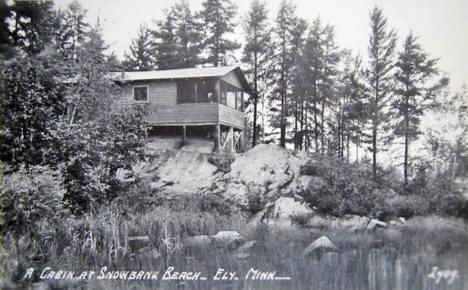 A Cabin at Snowbank Beach, Ely Minnesota, 1954