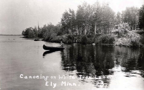 Canoeing on White Iron Lake, Ely Minnesota, 1939
