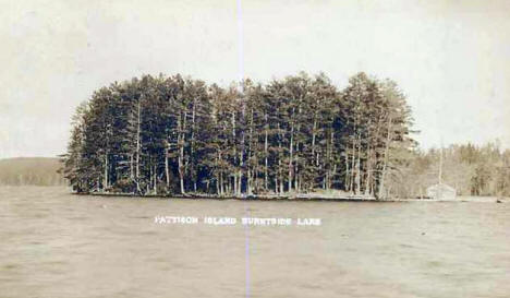 Pattison Island, Burntside Lake, Ely Minnesota, 1908