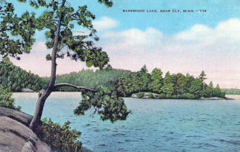 Basswood Lake near Ely Minnesota, 1946