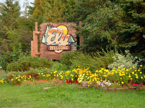 Welcome Sign, Ely Minnesota, 2007