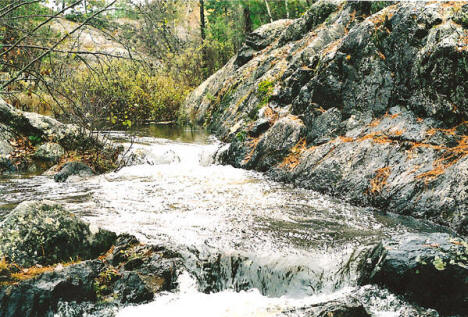 Upper creek of Dry Lake Falls, Ely Minnesota, 2007