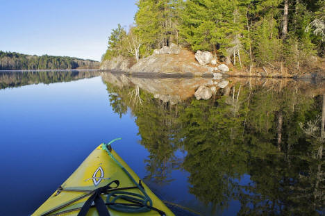 A morning run in the kayak. Superior National Forest near Ely Minnesota, 2008