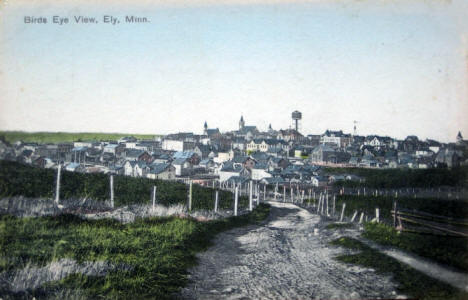Birds eye view, Ely Minnesota, 1910's