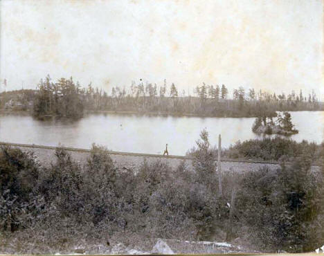 View of Eagles Nest Lake near Ely Minnesota, 1898
