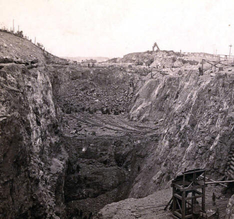 Chandler Mine, Ely Minnesota, 1885
