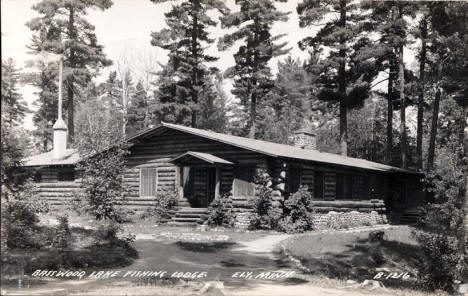 Basswood Lake Fishing Lodge, Ely Minnesota, 1946
