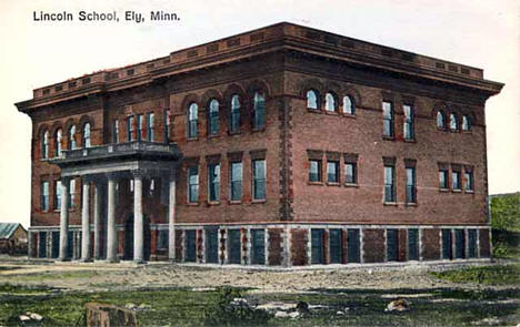Lincoln School, Ely Minnesota, 1908