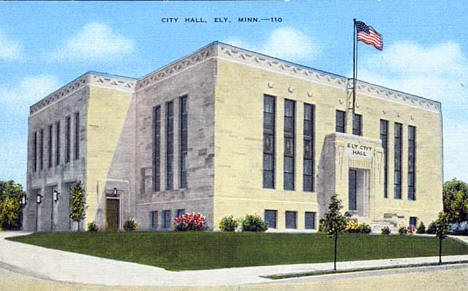 City Hall, Ely Minnesota, 1930