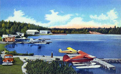 Seaplane base on Shaqawa Lake, Ely Minnesota, 1950
