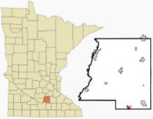 Location of Elysian, Minnesota