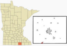Location of Emmons, Minnesota