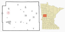 Location of Erhard, Minnesota