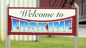 Erskine Minnesota Welcome Sign