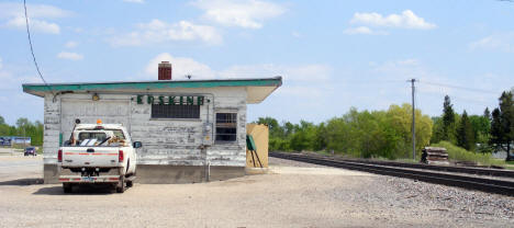 Old Railroad Depot and tracks, Erskine Minnesota, 2008