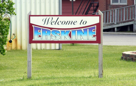 Welcome Sign, Erskine Minnesota, 2008