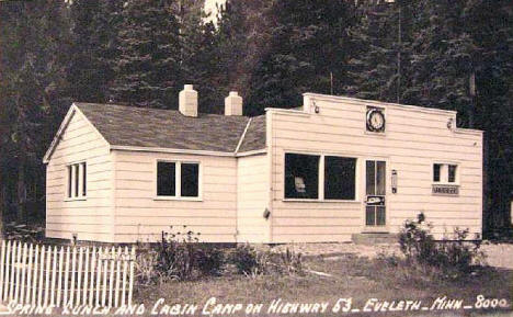 Spring Lunch and Cabin Camp, Eveleth Minnesota, 1940's?