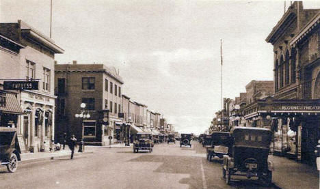 Grant Avenue looking north, Eveleth Minnesota, 1930's