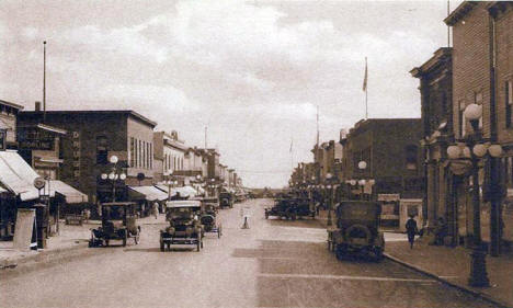 Grant Avenue looking south, Eveleth Minnesota, 1920's