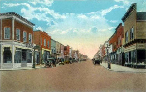 Grant Avenue, Eveleth Minnesota, 1920's