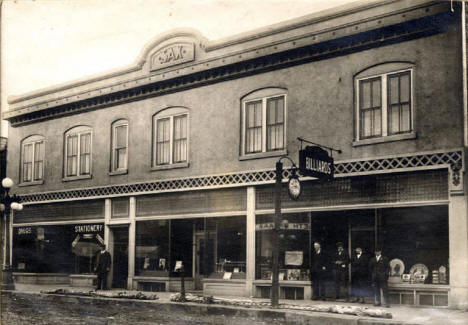 Sax Building on Grant Avenue in Eveleth Minnesota, 1903
