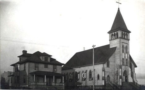 St. Patrick's church built 1905 Eveleth Minnesota, 1909