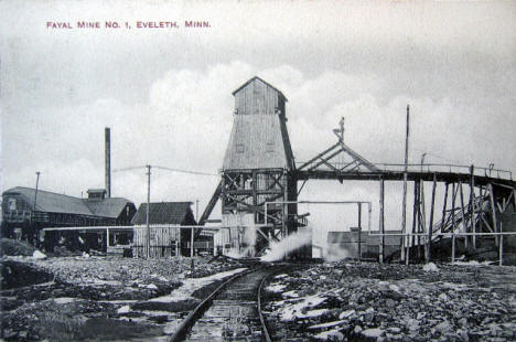 Fayal Mine Number 1, Eveleth Minnesota, 1909