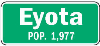 Eyota Minnesota population sign
