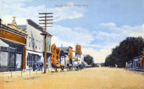 Second Street, Fairfax Minnesota, 1910