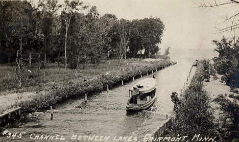 Channel between Lakes, Fairmont Minnesota, 1910