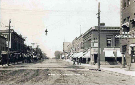 North Avenue, Fairmont Minnesota, 1910