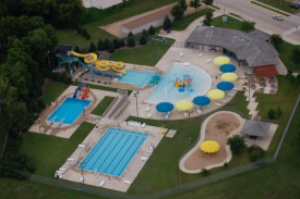 Arial view of the Fairmont Aquatic Park