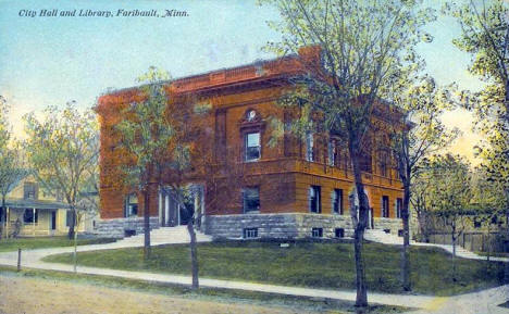 City Hall and Library, Faribault Minnesota, 1911